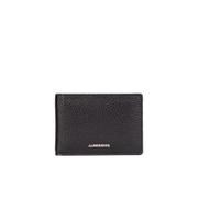 J.Lindeberg Men's Bi-Fold Small Leather Wallet - Black