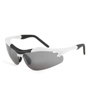 Evolution Pursuit Sports Sunglasses - White/Black