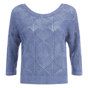 ONLY Women's Noah Short Knitted Pullover - Vintage Indigo