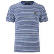 Lyle & Scott Vintage Men's Crew Neck Oxford Stripe T-Shirt - Present Blue