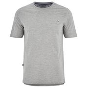 Le Shark Men's Horace Crew Neck Pique T-Shirt - Light Grey Marl