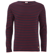 Armor Lux Men's Marinere Long Sleeve T-Shirt - Navy/Red