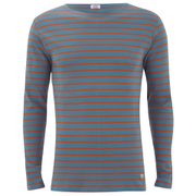 Armor Lux Men's Marinere Long Sleeve T-Shirt - Beetle/Orange