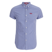 Superdry Men's London Button Down Shirt - Hartwell Cobalt Gingham