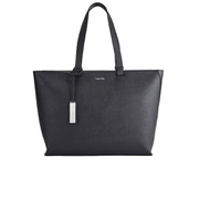 Calvin Klein Women's Sofie Large Pebbled Leather Tote Bag - Black