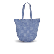 Herschel Women's Auden Crosshatch Polka Dot Tote Bag - Light Blue