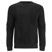 BLK DNM Men's Patchwork French Terry Sweatshirt - Black