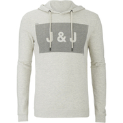Jack & Jones Men's Core Take Hoody - Treated White