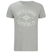 Jack & Jones Men's Originals Diamond T-Shirt - Light Grey Marl