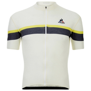 Le Coq Sportif Performance Merino Stripes Short Sleeve Jersey - White