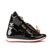 Vivienne Westwood Women's Tongue Orb Hi-Top Trainers - Black Patent