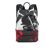 McQ Alexander McQueen Men's Classic Printed Neoprene Backpack - Black/White/Red