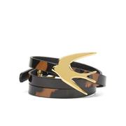 McQ Alexander McQueen Women's Swallow Triple Wrap Bracelet - Tortoiseshell