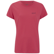 Jack Wolfskin Women's Essential Function T-Shirt - Hibiscus Red