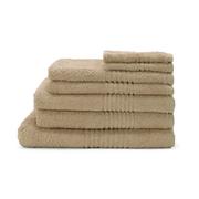 Highams 100% Cotton 7 Piece Towel Bale (550gsm) - Latte