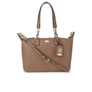 Karl Lagerfeld Women's K/Grainy Small Bowling Bag - Tan
