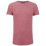 Tommy Hilfiger Men's Crew Neck Pocket T-Shirt - Cranberry