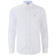 Tommy Hilfiger Men's Two Tone Dobby Shirt - Classic White