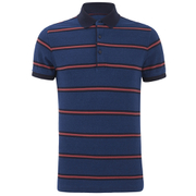 Tommy Hilfiger Men's Barney Striped Polo Shirt - Dark Indigo