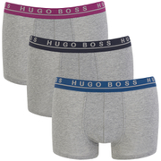 BOSS Hugo Boss Men's 3 Pack Boxer Shorts - Grey