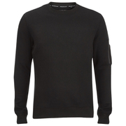 Brave Soul Men's Jacob Zip Sleeved Sweatshirt - Black