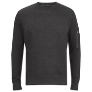 Brave Soul Men's Jacob Zip Sleeved Sweatshirt - Charcoal
