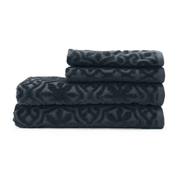 Highams 100% Egyptian Cotton 4 Piece Luxury Jacquard Towel Bale Set (500gsm) - Charcoal