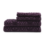 Highams 100% Egyptian Cotton 4 Piece Luxury Jacquard Towel Bale Set (500gsm) - Lilac