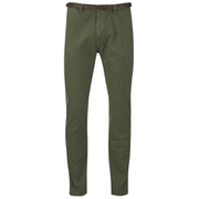 Scotch & Soda Men's Garment Dyed Slim Fit Chinos With Belt - Military
