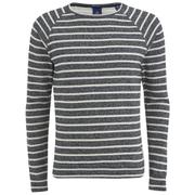 Scotch & Soda Men's Melange Crew Neck Sweatshirt - Grey