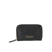 Scotch & Soda Men's Leather Coin Wallet - Black