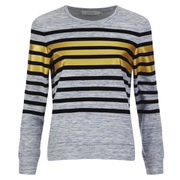 Munthe Women's Empire Navy Stripe Detail Sweatshirt - Navy