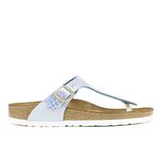 Birkenstock Women's Gizeh Shiny Snake Toe-Post Sandals - Sky