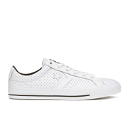 Converse Men's CONS Star Player Perforated Leather Trainers - White/Black