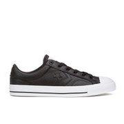 Converse Men's CONS Star Player Perforated Leather Trainers - Black/White