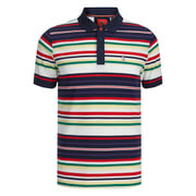Luke 1977 Men's O'Really O'Reilly Striped Polo Shirt - Dark Navy