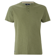 Threadbare Men's Oliver Grandad T-Shirt - Khaki
