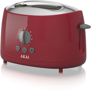 Akai A20001R 2 Slice Cool Touch Toaster - Red