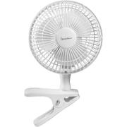 Signature S131N Clip Fan - White - 6 Inch