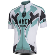 Bianchi Men's Ocreza Short Sleeve Jersey - White/Green