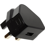 Kit USB 1A Eco Mains Charger - Black