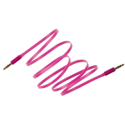 KitSound 1m Flat Aux Cable - Pink