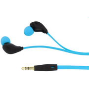 KitSound Active Sports Short Cable Earphones With In-Line Remote & Mic - Blue