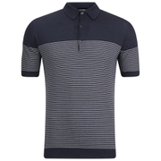 John Smedley Men's Viking Sea Island Cotton Polo Shirt - Navy