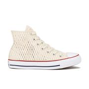Converse Women's Chuck Taylor All Star Crochet Hi-Top Trainers - Parchment/White