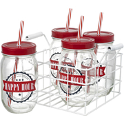 Parlane 'Happy Hour' Drinks Jars (Set of 4)