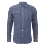 Selected Homme Men's None Sweat Denim Shirt - Light Blue Denim