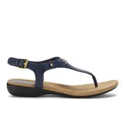 Lauren Ralph Lauren Women's Kally Leather Sandals - Modern Navy