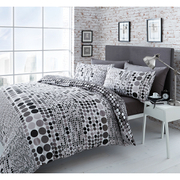 Catherine Lansfield Geo Spot Bedding Set - Black