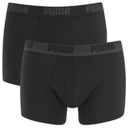 Puma Men's 2 Pack Basic Trunks - Black